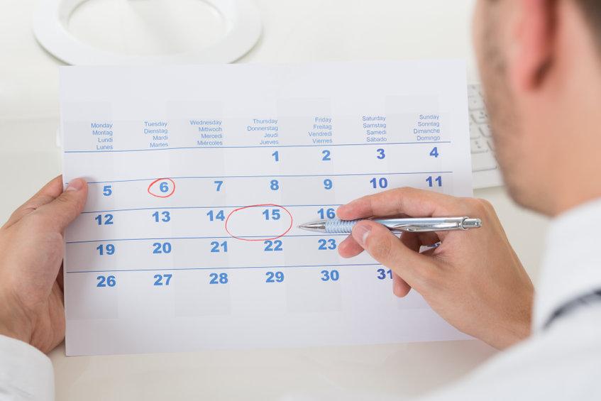 Calendario del contribuyente octubre de 2021