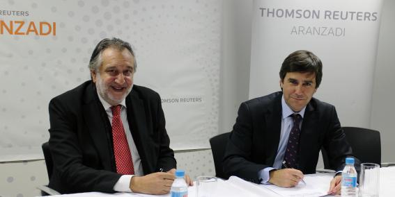 Thomson Reuters Aranzadi firma un convenio de colaboración con ADADE para la edición, impresión y digitalización de la revista ADADE/E-Consulting | Sala de prensa Grupo Asesor ADADE y E-Consulting Global Group