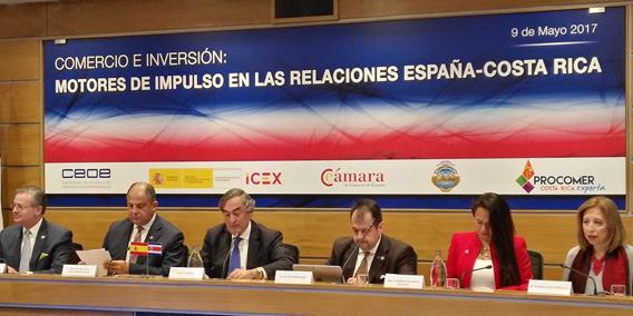 El presidente de Costa Rica se reúne con empresarios españoles en la sede del CEOE | Sala de prensa Grupo Asesor ADADE y E-Consulting Global Group