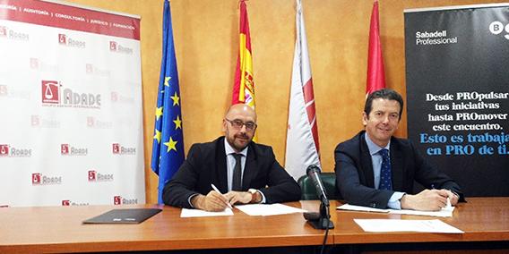 El grupo asesor ADADE firma convenio con Banco Sabadell | Sala de prensa Grupo Asesor ADADE y E-Consulting Global Group